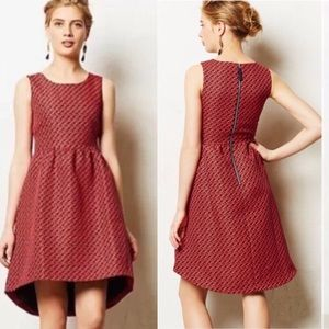 EUC Lili Wang for Lili's Closet Geojacquard Dress